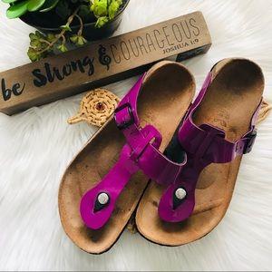 Betula by Birkenstock Gizeh Purple Sandals Sz39 L8